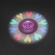 Stresszoldó pörgettyűk Kézi Spinner Játékok Tri-Spinner LED Spinner Fém Műanyag EDCStressz és szorongás oldására Office Desk Toys A