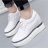 Dames Sneakers Comfortabel Leer PU Lente Causaal Comfortabel Wit Plat