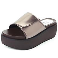 Damen Sandalen Komfort PU Sommer Komfort Flacher Absatz Weiß Schwarz Khaki 10 - 12 cm