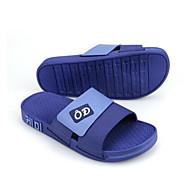 Herren Slippers & Flip-Flops Komfort Gummi Frühling Normal Schwarz Marinenblau Rosa Flach