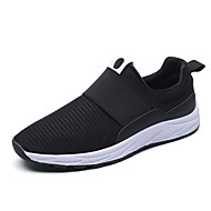 Men's Fashion Sneakers Casual Yeezy Shoes Comfort Tulle Athletic Shoes Flat Heel Black / Red / White