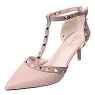 Ženske Sandale Udobne cipele PU Ljeto Kauzalni Hodanje Udobne cipele Zakovica Stiletto potpetica Obala Crn Crvena Pink 5 cm - 7 cm