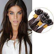 legjobb brazil köröm u tip keratin fúziós hajhosszabbítás 100% emberi haj színe szűz # 3 egyenes eladás előtti kötött 1g / szál