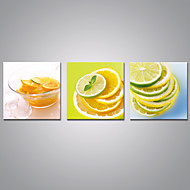 Afdrukken Op Opgespannen Doek Voedsel Modern,Drie panelen Canvas Horizontaal Print Muurdecoratie For Huisdecoratie