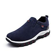 Herren-Loafers & Slip-Ons-Outddor Büro Lässig-Vlies-Flacher Absatz-Komfort Leuchtende Sohlen-Schwarz Grau Braun Blau
