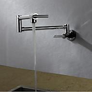 Współczesny Art Deco/Retro Nowoczesny Standardowe Wylewka Wysoki / High Arc Pot Filler Przytwierdzony do ścianyTermostatyczna