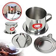 100 ml Rustfritt stål Kaffefilter , Brew Coffee Maker Gjenanvendelige med Cup Stand Manuell