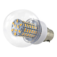 6W B22 Bayonet LED Ball Bulb 12-24V 36V 48V 69 SMD 5730 500-550Lm Warm White/Cool White AC/DC10-60V (1 pcs)