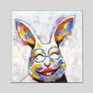 Pintados à mão Animal Quadrangular,Moderno Clássico 1 Painel Tela Pintura a Óleo For Decoração para casa