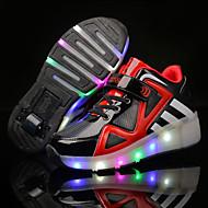 Para Meninos-Tênis-Light Up Shoes Shoe luminous-Salto Baixo-Vermelho/Preto Azul Branco/Prata-Tule Outras Peles de Animais-Ar-Livre Casual