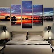 Impresiones de Arte Paisaje Modern,Cinco Paneles Horizontal lámina Decoración de pared For Decoración hogareña