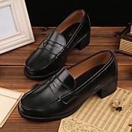 Damen-Loafers & Slip-Ons-Lässig-Mikrofaser-Blockabsatz-Komfort-