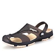 Herre-Kustomiserte materialer-Flat hæl-Lette såler Hole Sko-Sandaler-Friluft Fritid-Svart Blå