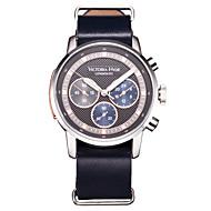 Men Sport Watch Fashion Watch Wrist watch Japanese Japanese Quartz Water Resistant / Water Proof Genuine Leather Band Cool Navy Dark Blue