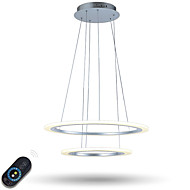 Dimmable LED Ring Acrylic Pendant Lights Ceiling Chandeliers Lamp Lighting Fixtures with Remote Control