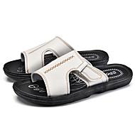 슬리퍼 플립 플롭-캐쥬얼-남성-조명 신발-PU화이트 블랙 어두운 무늬