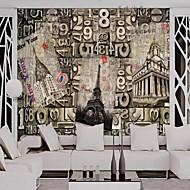 Art Deco Sólido Papel de Parede Para Casa Retro Revestimento de paredes , Tela Material adesivo necessário papel de parede , Cobertura