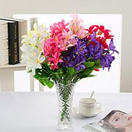 1 Ramo Poliéster Lírios Flor de Mesa Flores artificiais