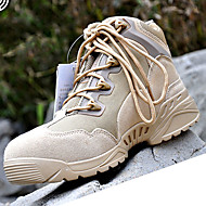 Men's Boots Spring Fall Comfort Canvas Outdoor Athletic Work & Safety Low Heel Lace-up Khaki Black Trail Running