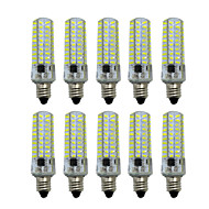 5W E14 E12 E17 E11 BA15d Luminárias de LED  Duplo-Pin T 80 SMD 4014 400-500 lm Branco Quente Branco Frio Regulável AC 220-240 V 10 pçs