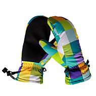 スキー手袋 子供用 スポーツグローブ 保温 防水 防風 高通気性 ウィッキング 保護 スキー 登山 レジャースポーツ キャンピング&ハイキング ランニング 合成繊維 冬