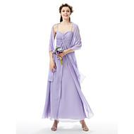LAN TING BRIDE Floor-length Sweetheart Spaghetti Straps Bridesmaid Dress Sleeveless Chiffon