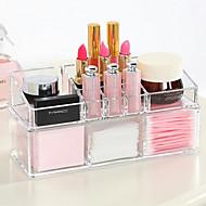 Akryyli monimutkainen yhdistelmä kaksikerroksinen meikki harja potti kosmetiikka varastointi järjestäjä 2kpl asetettu