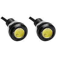 2pcs 23mm 흰색 컬러 독수리 눈 가벼운 차 안개 drl 주간 역방향 백업 주차 신호등 램프 뜨거운 판매 dc12v