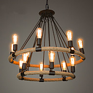 Chandelier ,  Traditional/Classic Rustic/Lodge Vintage Retro Country Painting Feature for Candle Style MetalLiving Room Bedroom Dining