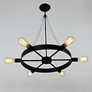 Luzes Pingente ,  Contemprâneo Tradicional/Clássico Retro Lanterna Rústico Pintura Característica for Cristal Designers Estilo Vela Metal