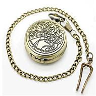 Men's Pocket Watch Quartz Alloy Band Bronze