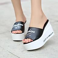 Damen-Loafers & Slip-Ons-Outddor Lässig-Lackleder-Keilabsatz-Fersenriemen-