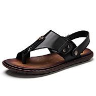 Sandaalit-Tasapohja-Miehet-Nahka--Ulkoilu Rento-Comfort Valopohjat