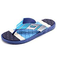 슬리퍼 플립 플롭-캐쥬얼-남성-컴포트-PU-플랫-브라운 그린 블루