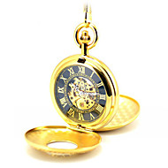 Men's Skeleton Watch Pocket Watch Mechanical Watch Quartz Automatic self-winding Alloy Band Gold