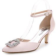 Feminino-Sandálias-D'Orsay-Salto Agulha-Branco Rosa Claro Azul Real-Seda-Casamento Ar-Livre Escritório & Trabalho Casual Festas & Noite