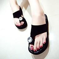 Γυναικείο Παντόφλες & flip-flops Λουράκι στη Φτέρνα PU Καλοκαίρι Causal Χοντρό Τακούνι Λευκό Μαύρο Κόκκινο 2,5εκ - 4,5εκ