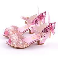 Mädchen-Sandalen-Hochzeit Kleid Lässig Party & Festivität-Mikrofaser-Flacher Absatz Stöckelabsatz-Komfort Neuheit Blumen-Mädchen-Schuhe-