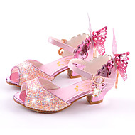 Para Meninas-Sandálias-Conforto Inovador Menina Flor Shoes-Rasteiro Salto Agulha--Microfibra-Casamento Social Casual Festas & Noite