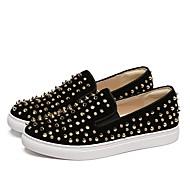 Dame-Semsket lær-Flat hæl-Komfort-一脚蹬鞋、懒人鞋-Fritid-