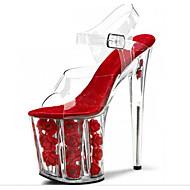 Dámské Podpatky klub Boty Svítící boty PVC Jaro Léto Podzim Svatební Šaty Party Kříšťálový podpatekVysoký Platformy Průhledný podpatek