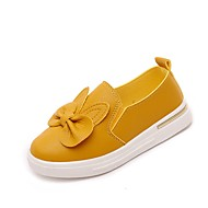 Girl's Sneakers Casual  Summer Fall Casual Athleisure Walking Bowknot Flat Heel Blushing Pink Ruby Yellow Black Under 1in