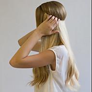 16-24 skryté neviditelné drátěné hedvábí rovný filp v ručně vyrobeném 100% prodloužení lidských vlasů 120g (šířka 25cm)