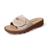 Women's Sandals Slingback Leatherette Summer Dress Casual Walking Low Heel White Black Beige 1in-1 3/4in
