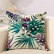 1 Pcs Vintage Bohemia Tropical Flowers Printing Pillow Cover 45*45Cm Classic Pillow Case Sofa Cushion Cover