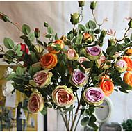 1 ブランチ シルク バラ フロアフラワー 人工花