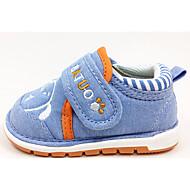 בנות שטוחות צעדים ראשונים פרווה דמוי עור אביב סתיו שטח יומיומי הליכה סקוטש עקב נמוך כחול כהה כחול ורוד שטוח