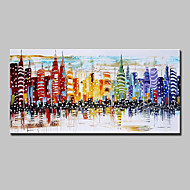 Hand-Painted Knife City Oil Paintings On Canvas Modern Abstract Wall Art Pictures For Home Decoration Ready To Hang