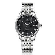 Men's Women's Fashion Watch Mechanical Watch Automatic self-winding Calendar Water Resistant / Water Proof Stainless Steel Band Silver