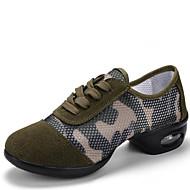 Kişiselletirilmemiş Kadın Dans Sneakerları Sentetik Spor Ayakkabı Dış Mekan Düşük Topuk Ordu Yeşili 2,5 - 3,6 cm